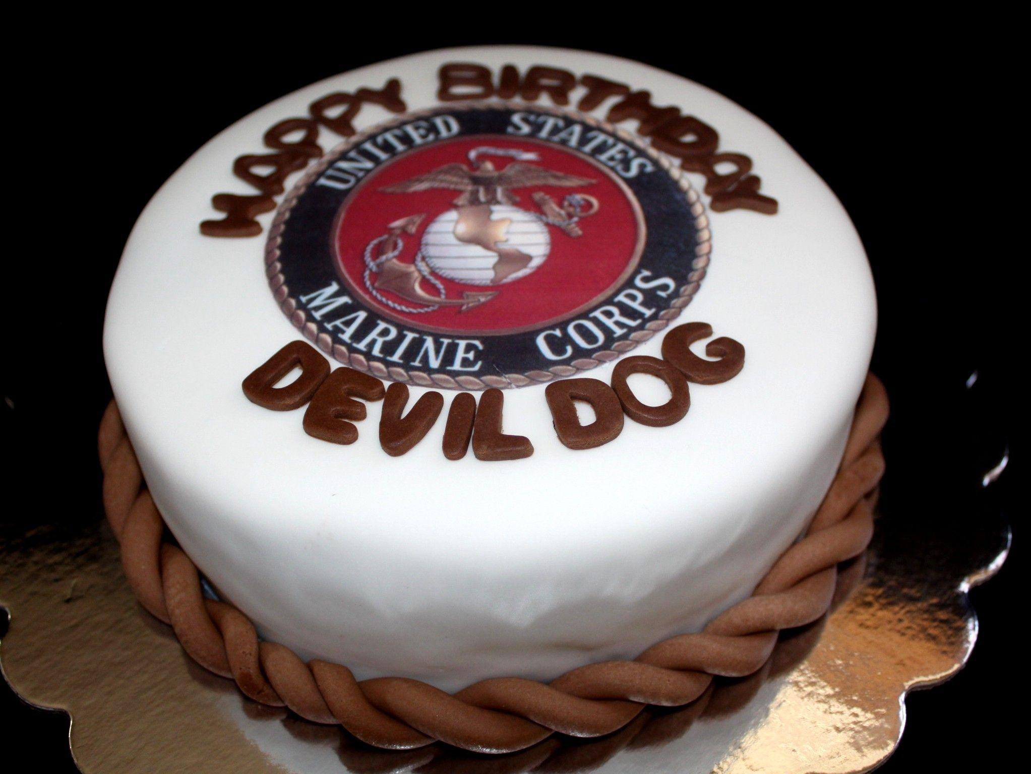Marine Corp Cake! OohRah Devil Dog
