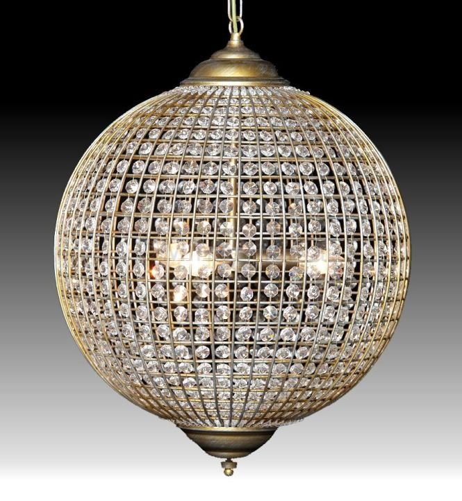 Cairo Globe Crystal Chandelier Available In 3 Sizes Ceiling Lamps Lighting Home Decor