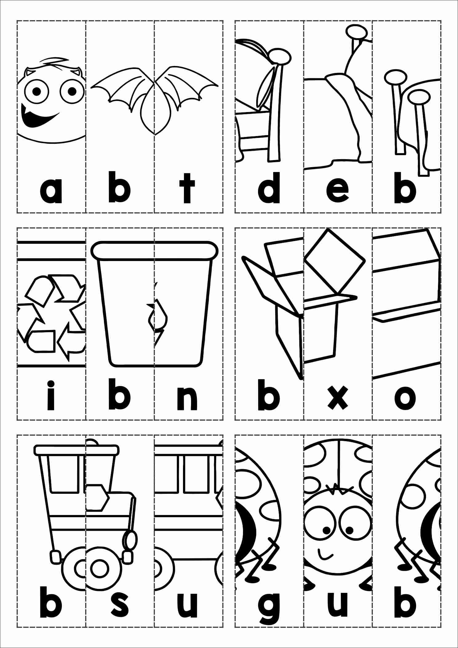 Free Phonics Letter Of The Week B Beginning B Cvc Words Picture Scramble
