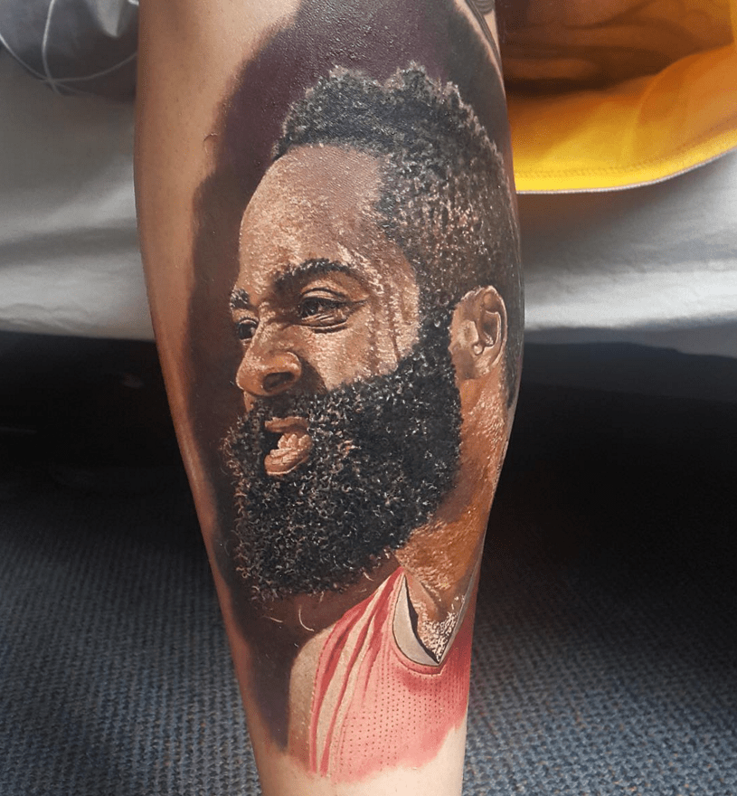 Fan Gets An Epically Real James Harden Tattoo NBA Ink