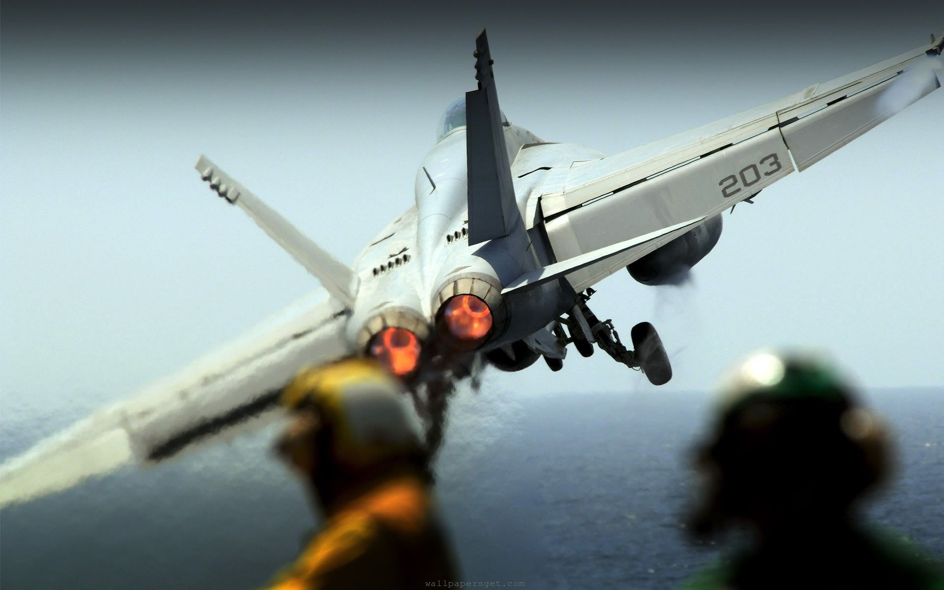 aircraft take over from carrier sea wide hd wallpaper | cool