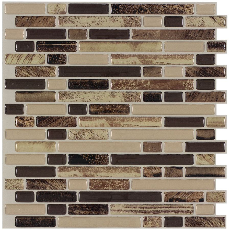 Peel&Stick Mosaics Rockbridge Linear Mosaic Composite Wall
