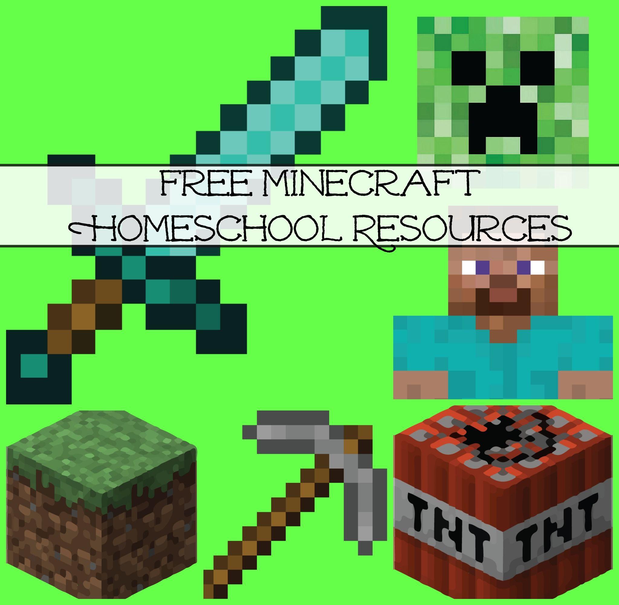Free Minecraft Homeschool Resources Printables Crafts