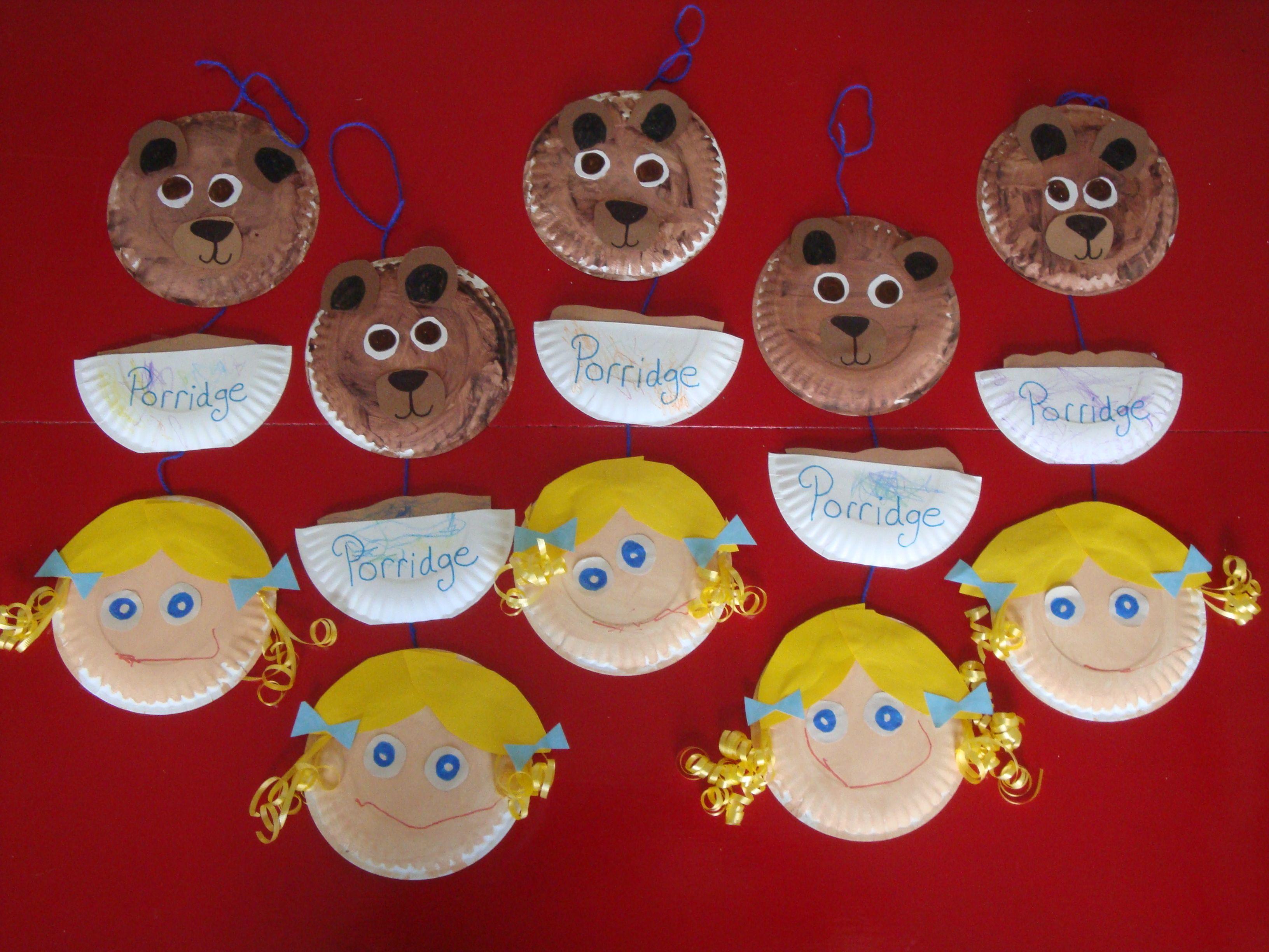 Goldilocks Wall Hanging Nursery Rhyme Fairy Tale Month
