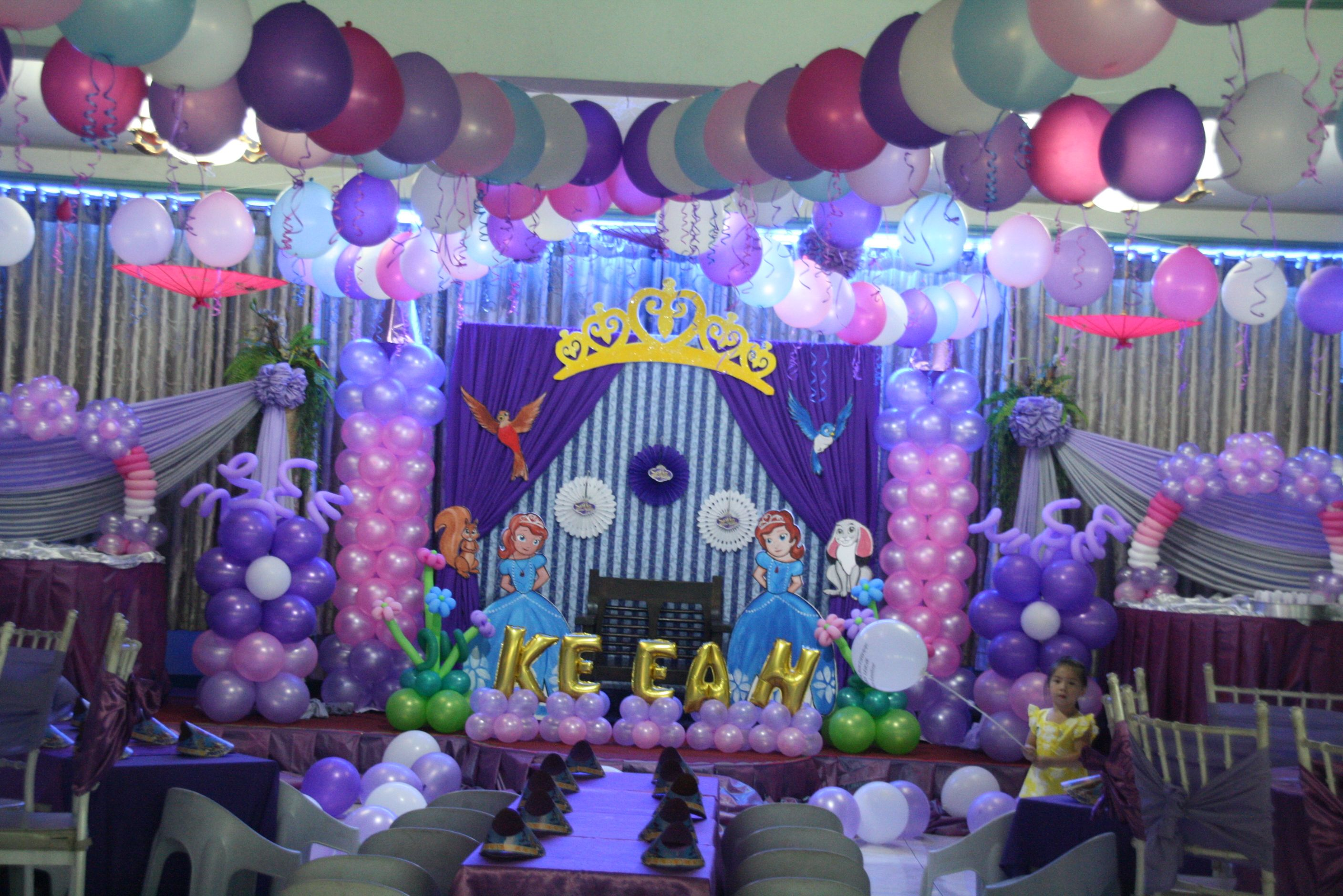 Sofia The First Balloon Decor