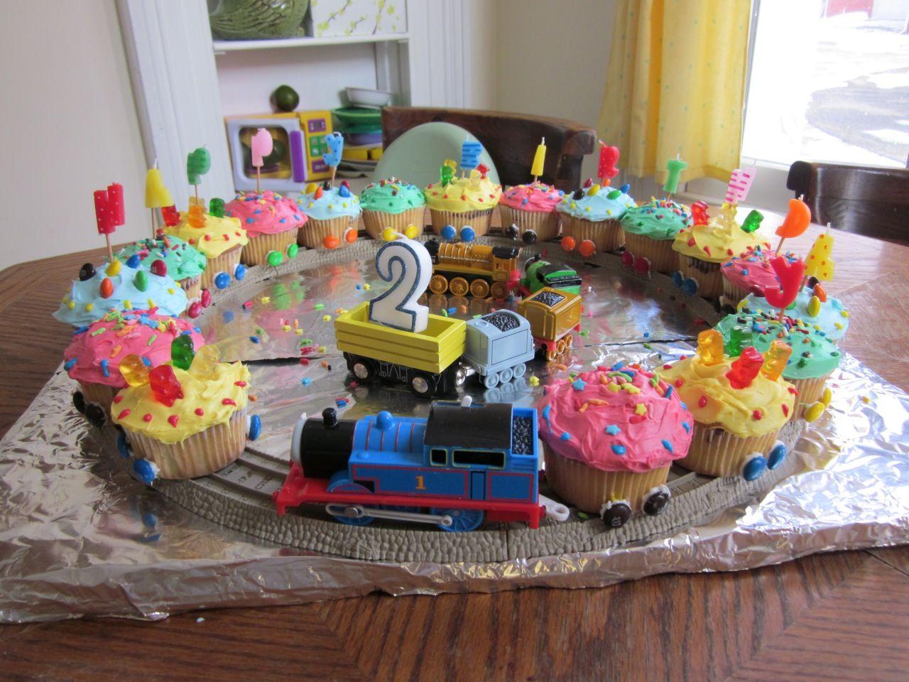 My Lucan S 2nd Birthday Train Cupcakes
