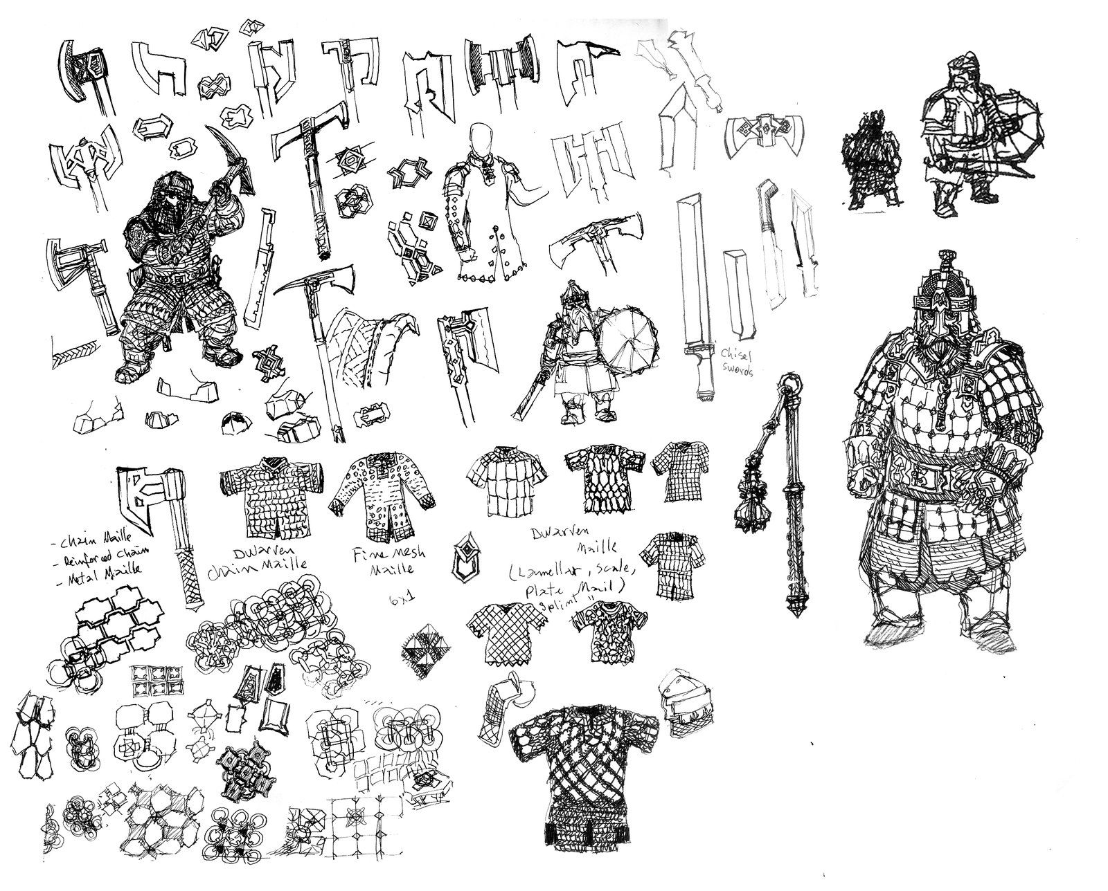 Dwarven Weapons And Armor By Artigas