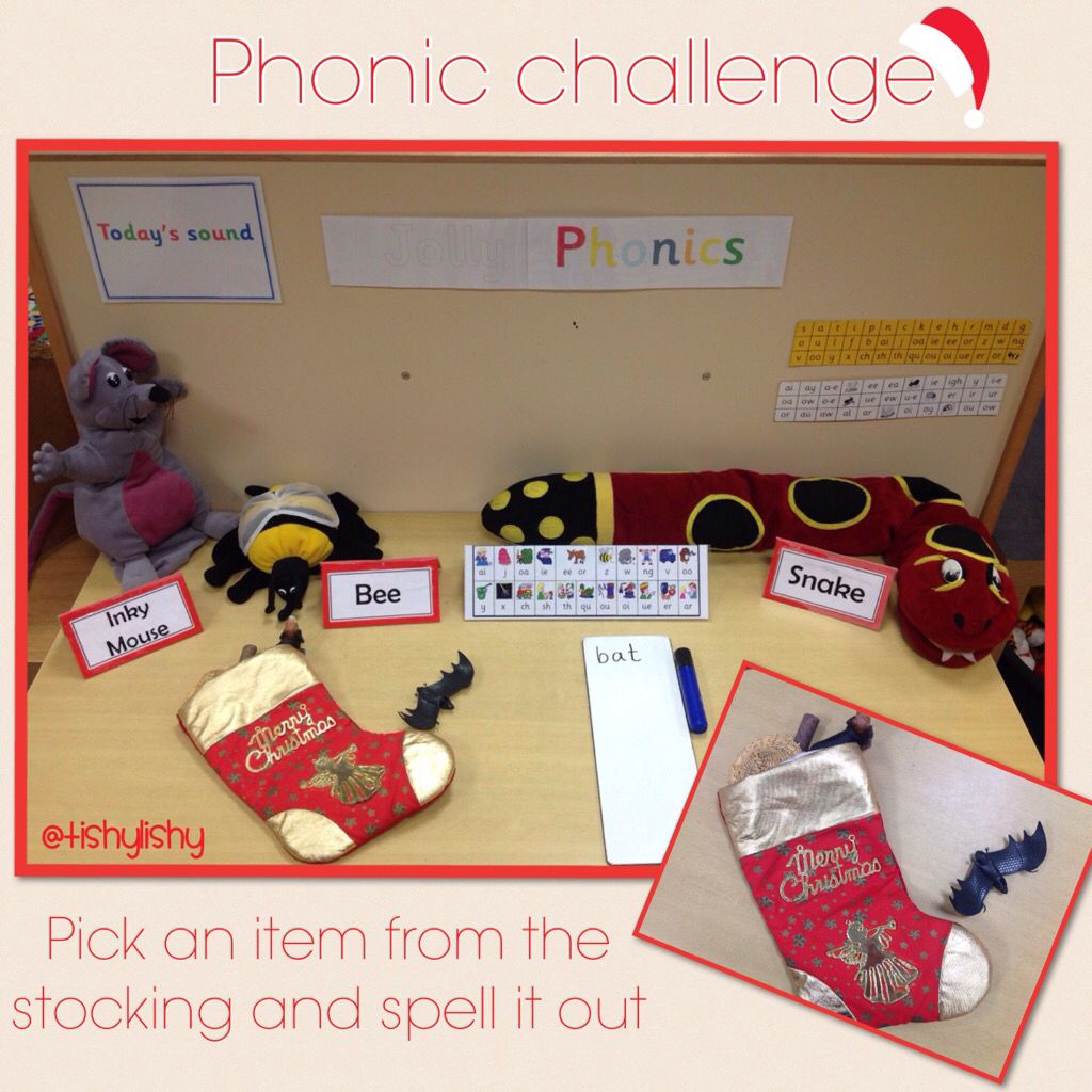 Stocking Phonics Pick An Item From The Stocking Amp Spell It Out From Tishylishy