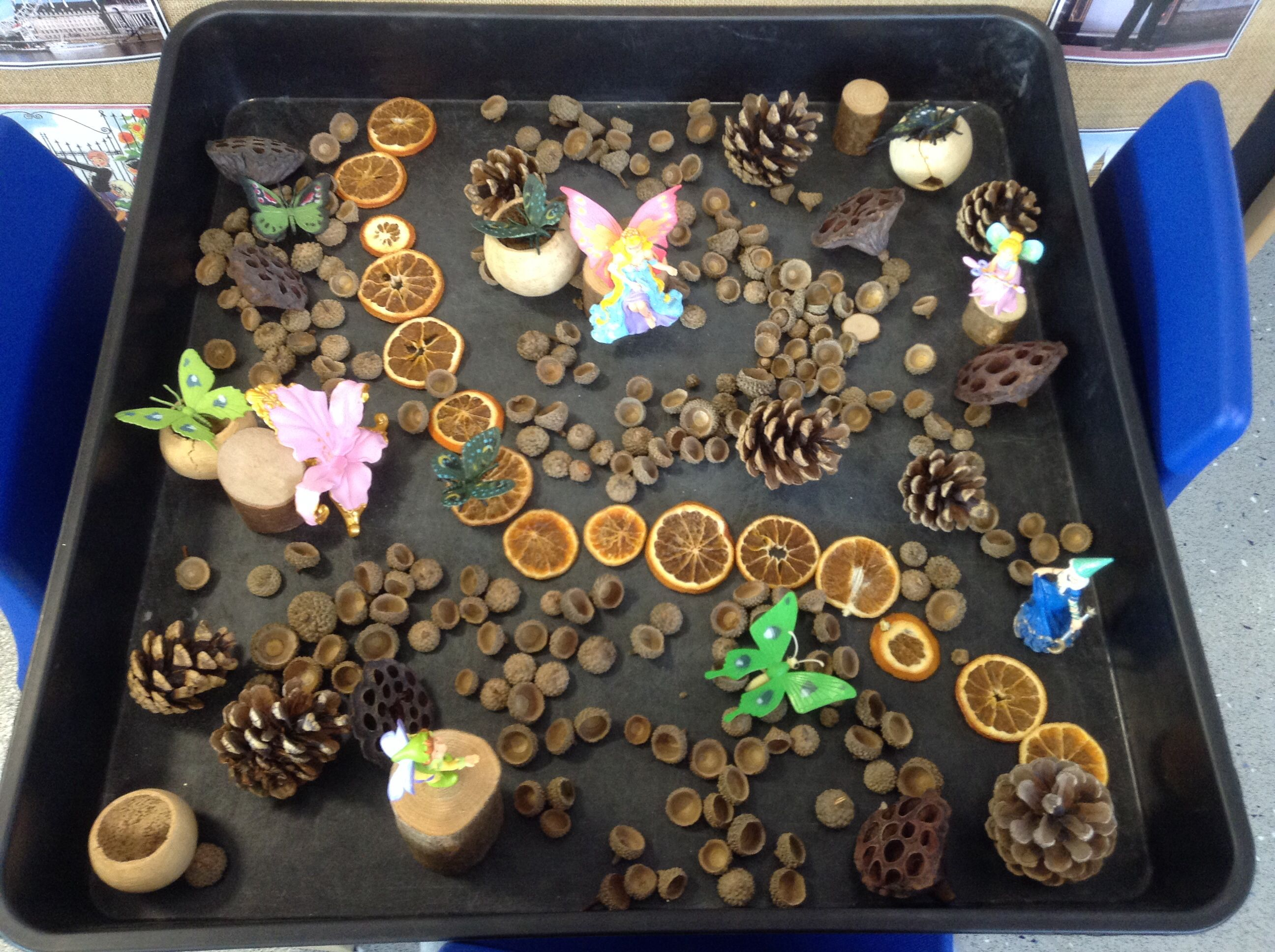 Fairies In A Woodland Small World With Natural Resources