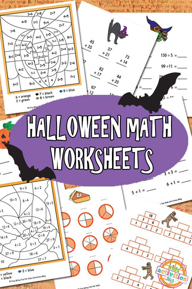 HALLOWEEN MATH WORKSHEETS FREE KIDS PRINTABLE Halloween