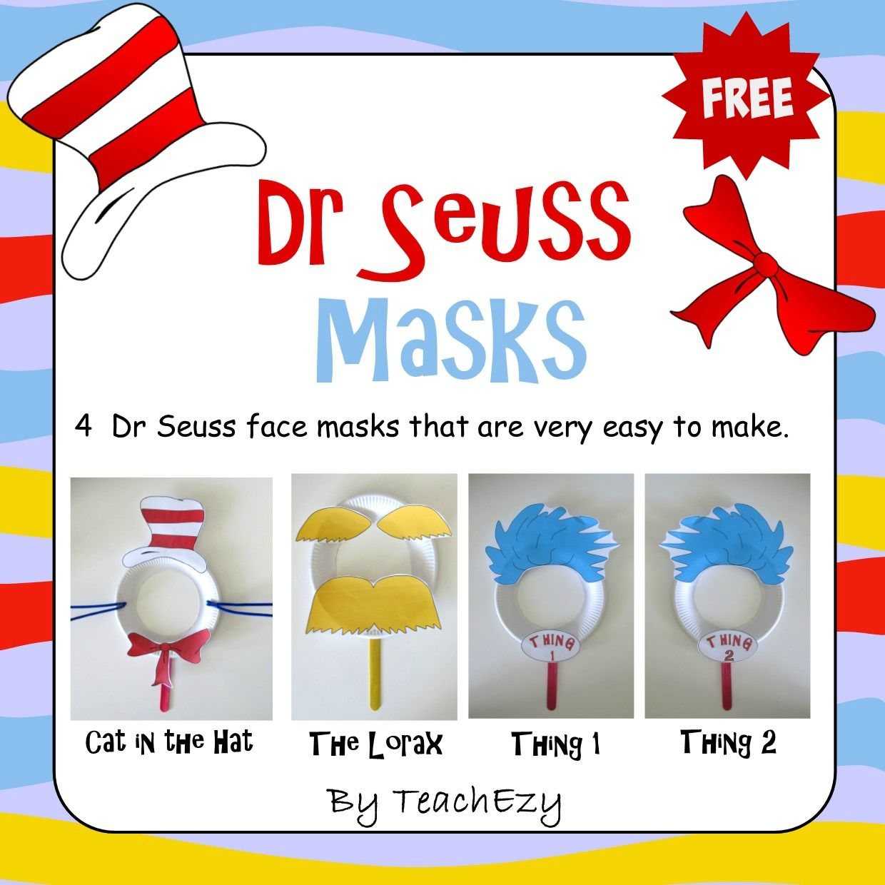Dr Seuss Masks Free Craft Activity Teachezy Early