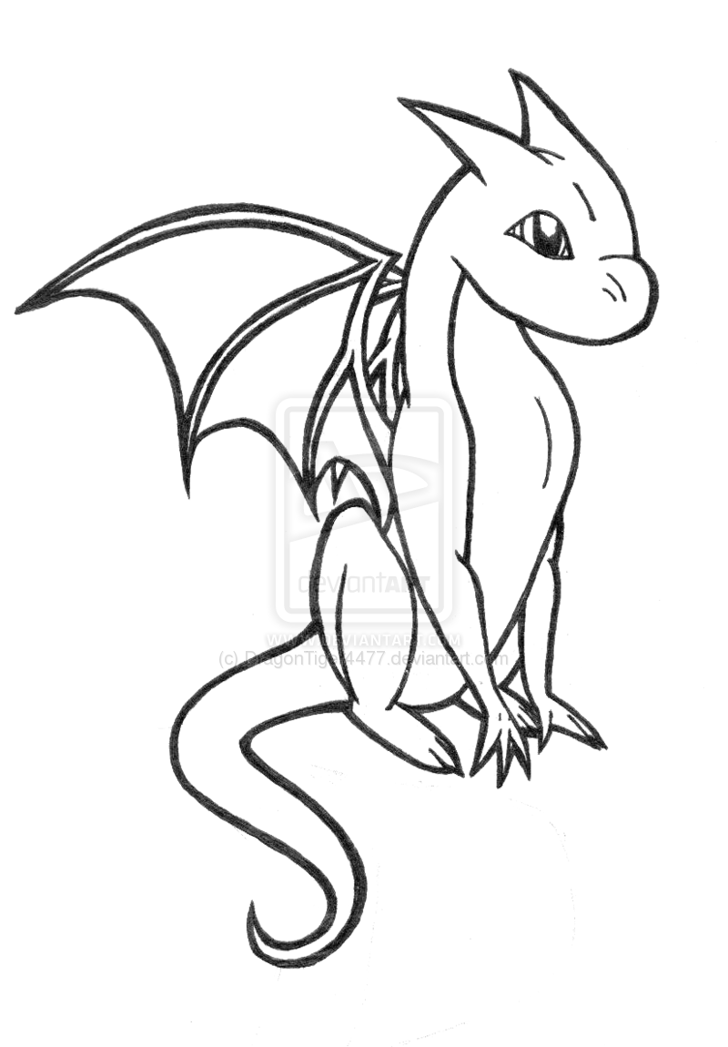 Dragon Coloring Pages for Adults Baby dragon coloring