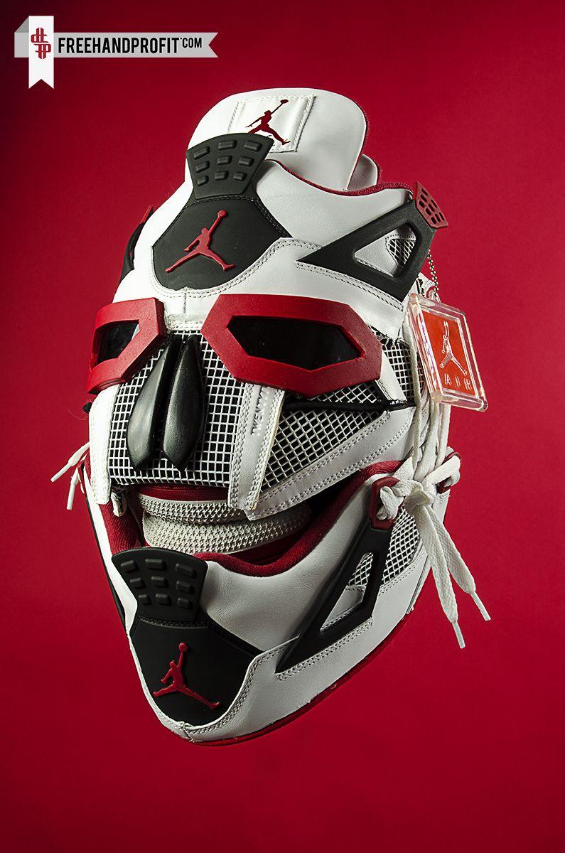 Air Jordan IV Fire Red Gas Mask Ⓙ_⍣∙₩ѧŁҝ!₦ǥ∙⍣ Pinterest