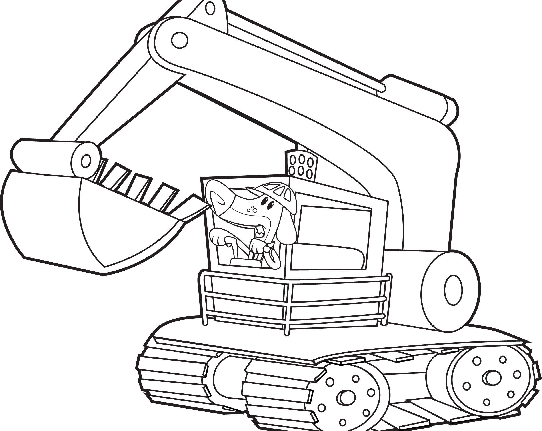 Dig, Dogs, Dig! Color an excavator! Summer Reading