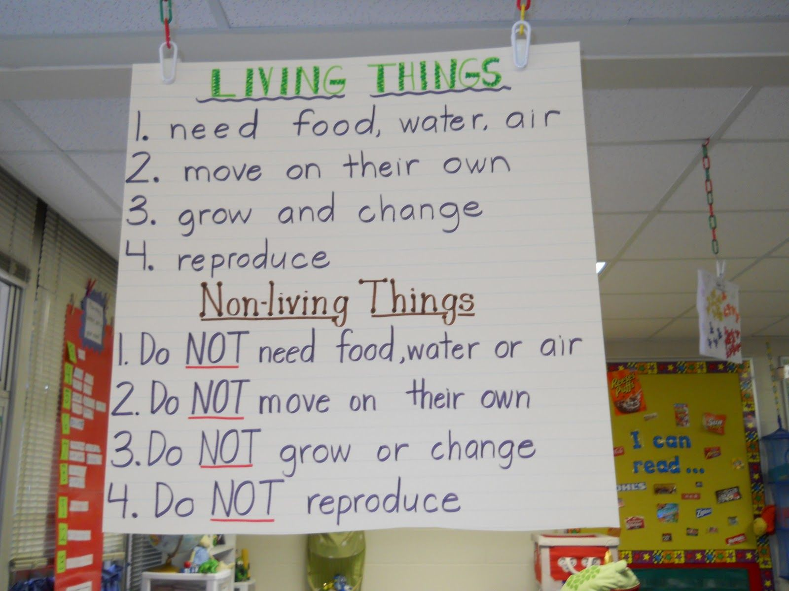 Living And Nonliving Sight Word Poem