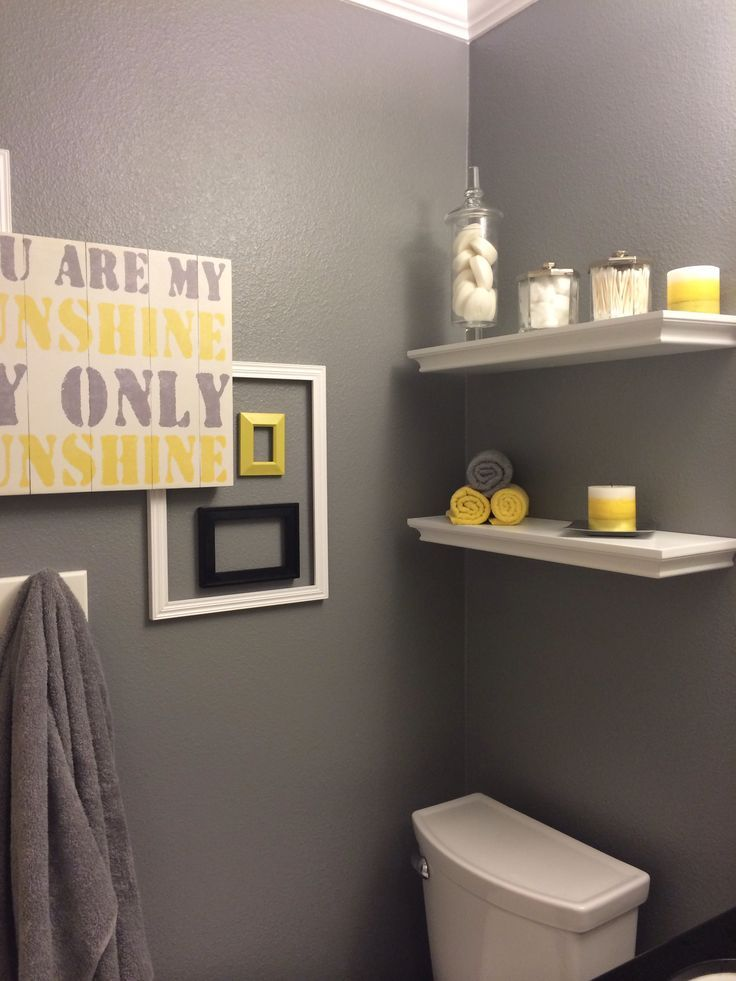 grey and yellow bathroom for interior decoration of your home
