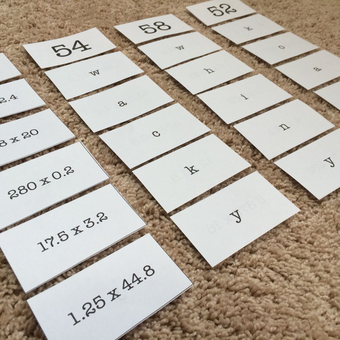 Multiplying Decimals Sort