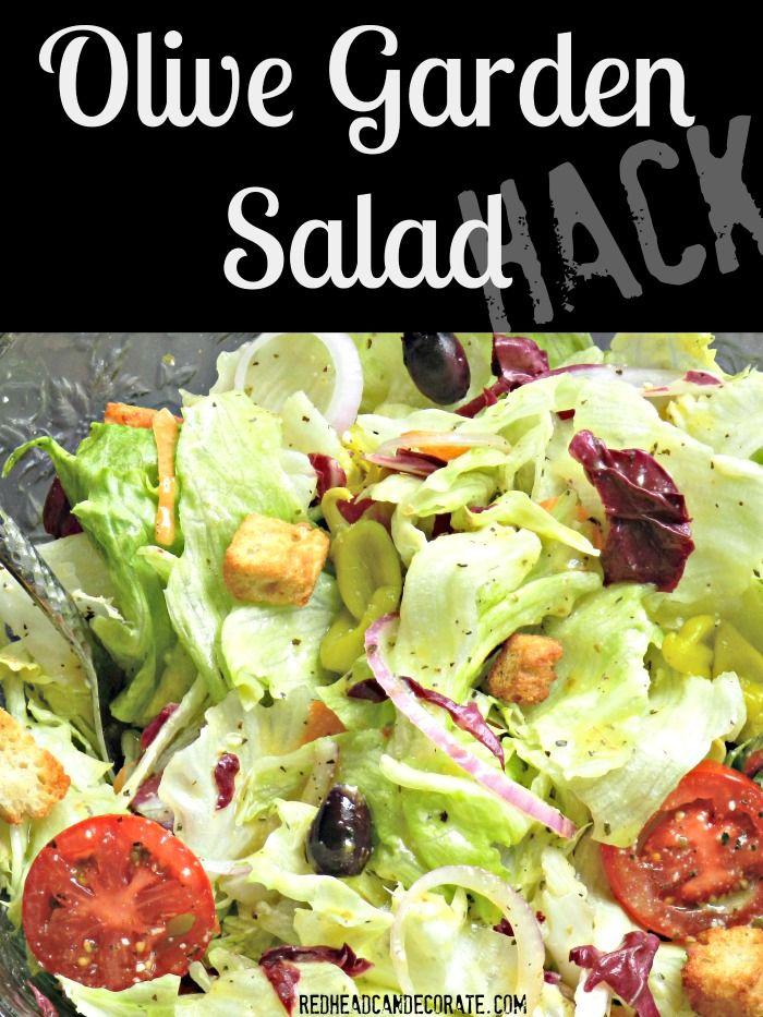 Olive Garden Salad Recipe Olive garden salad, Olive