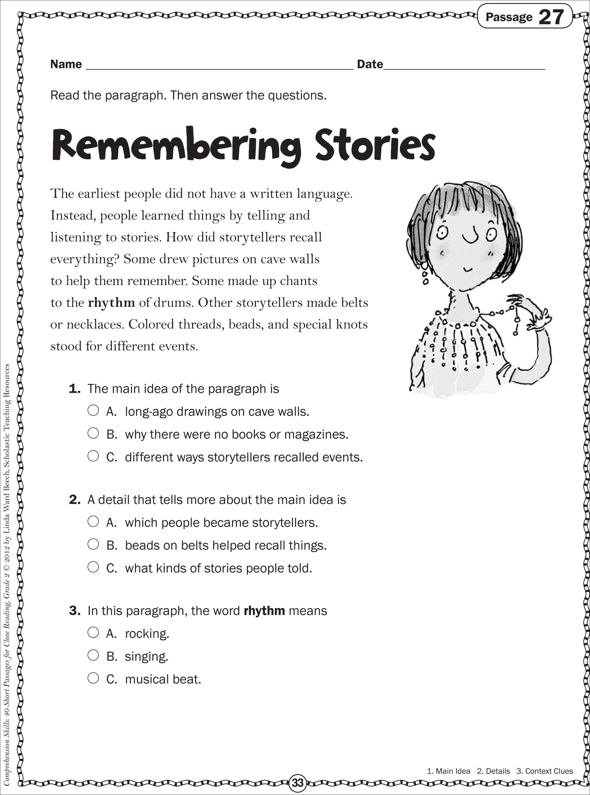 - Listening Passages With Questions Worksheets Printable