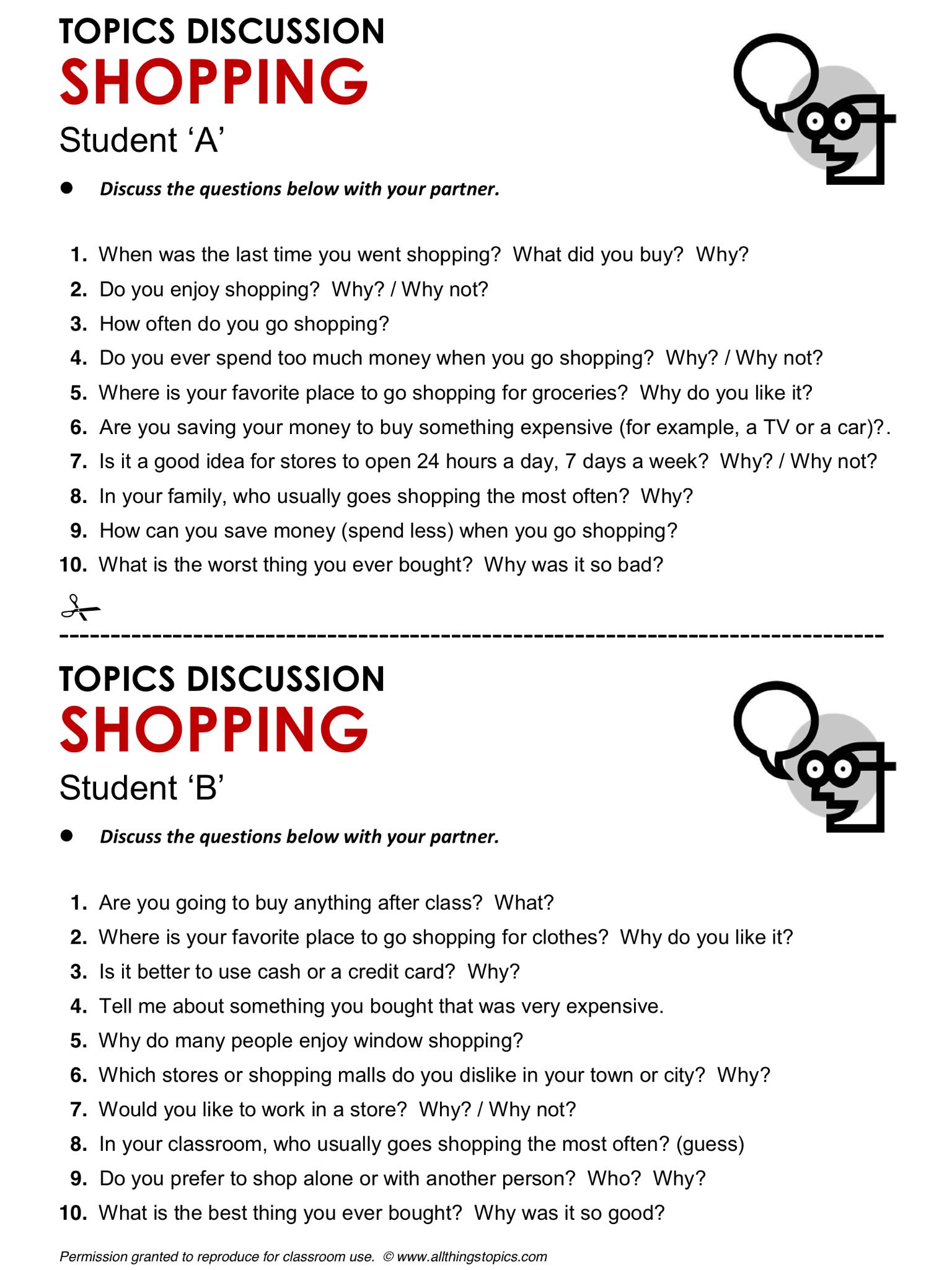 Shopping English Learning English Vocabulary Esl