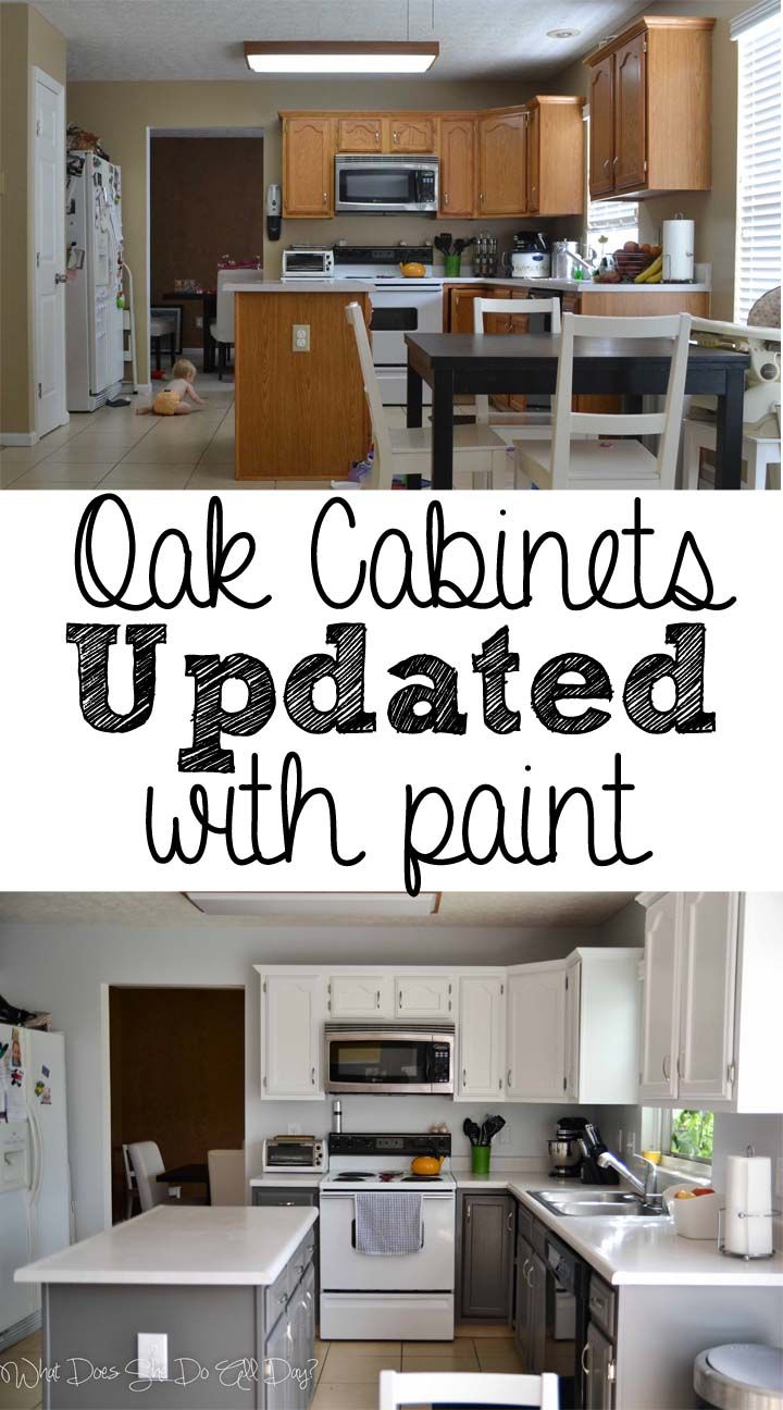 Painted Kitchen Before and After DIY nice to see