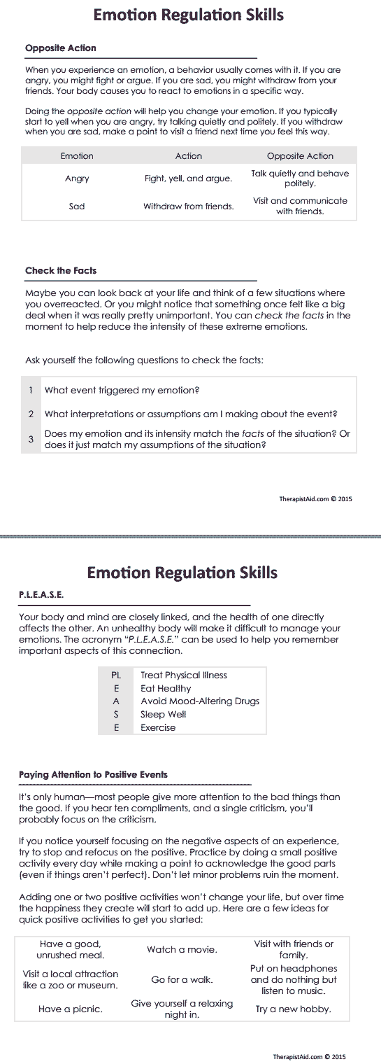 Dbt Emotion Regulation Skills Preview