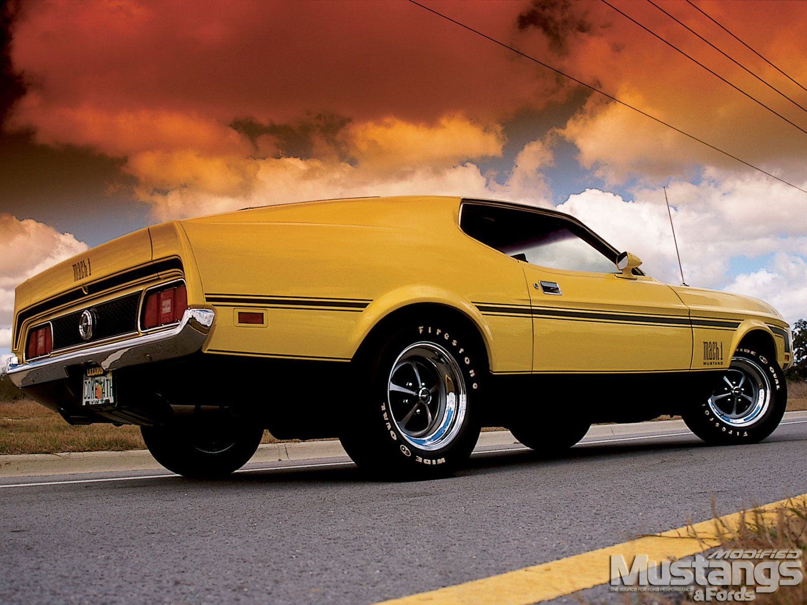 1972 Mustang Mach 1 1972 Ford Mustang Mach 1 Right Rear