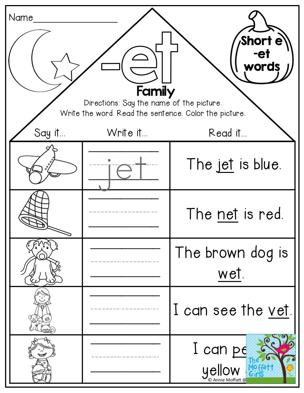 Kindergarten Word Family Worksheets Teachers Pay