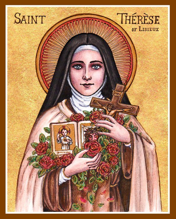 St. Therese icon by Theophilia on deviantART watercolor