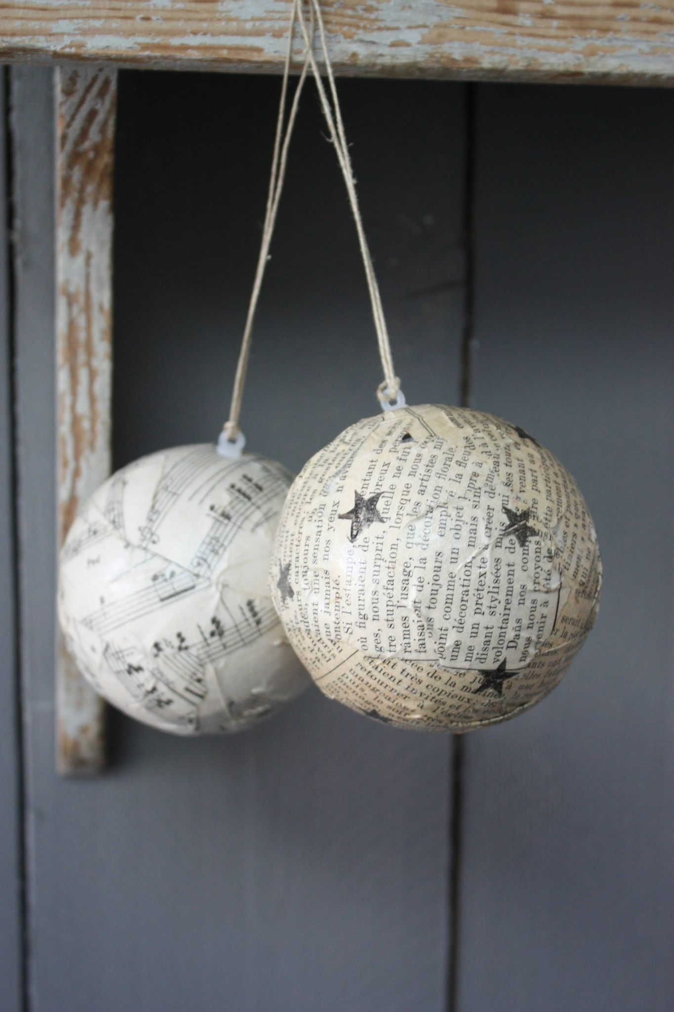 DIY Christmas ornaments like the idea of using old music