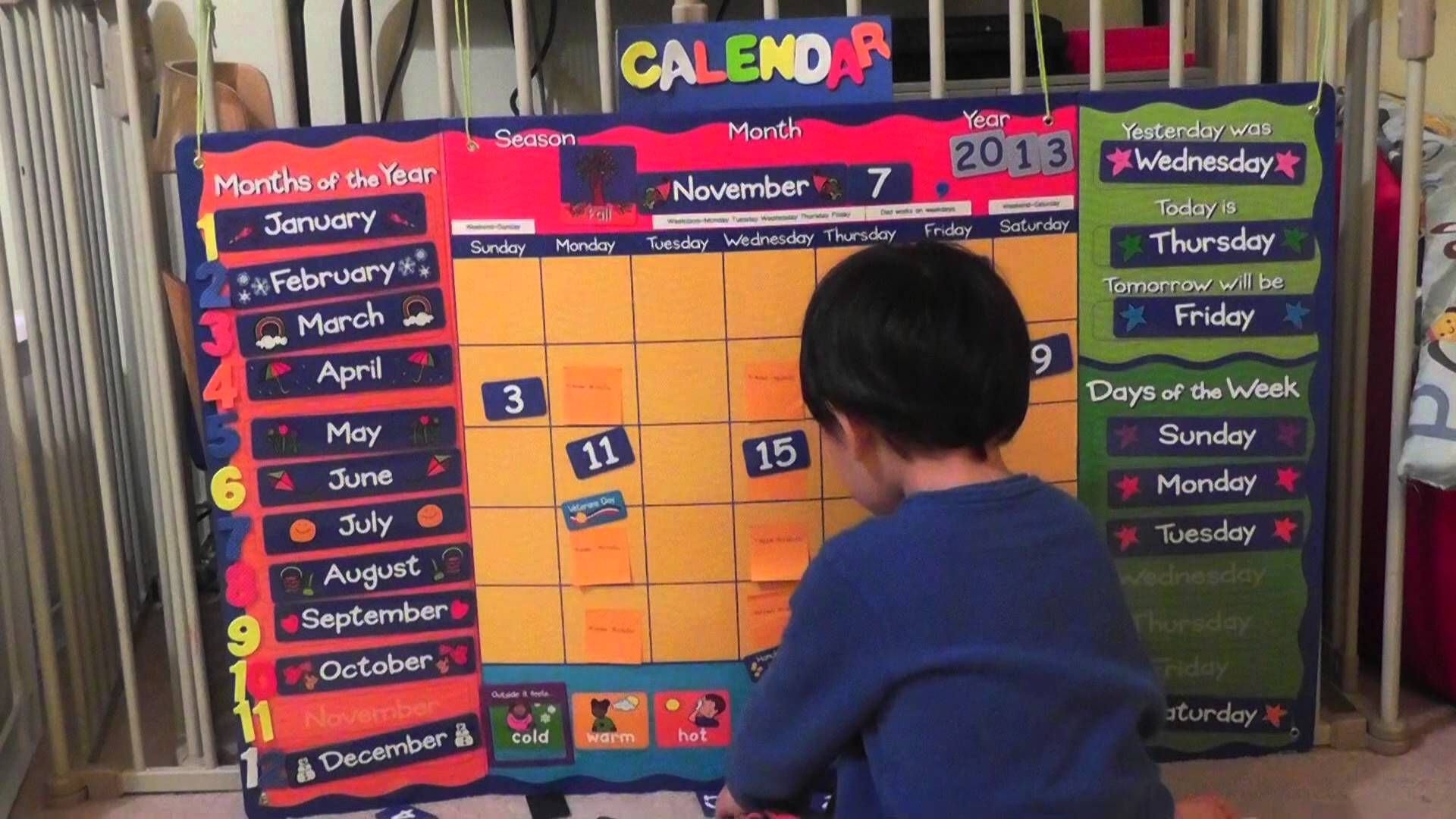 Video Lesson Of The Lakeshore Learning Calendar From A 3 Year Old