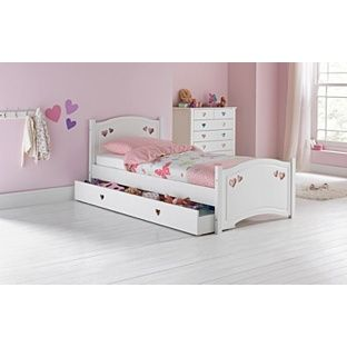 Mia White Single Bed Frame With Bibby Mattress At Argos Co Uk