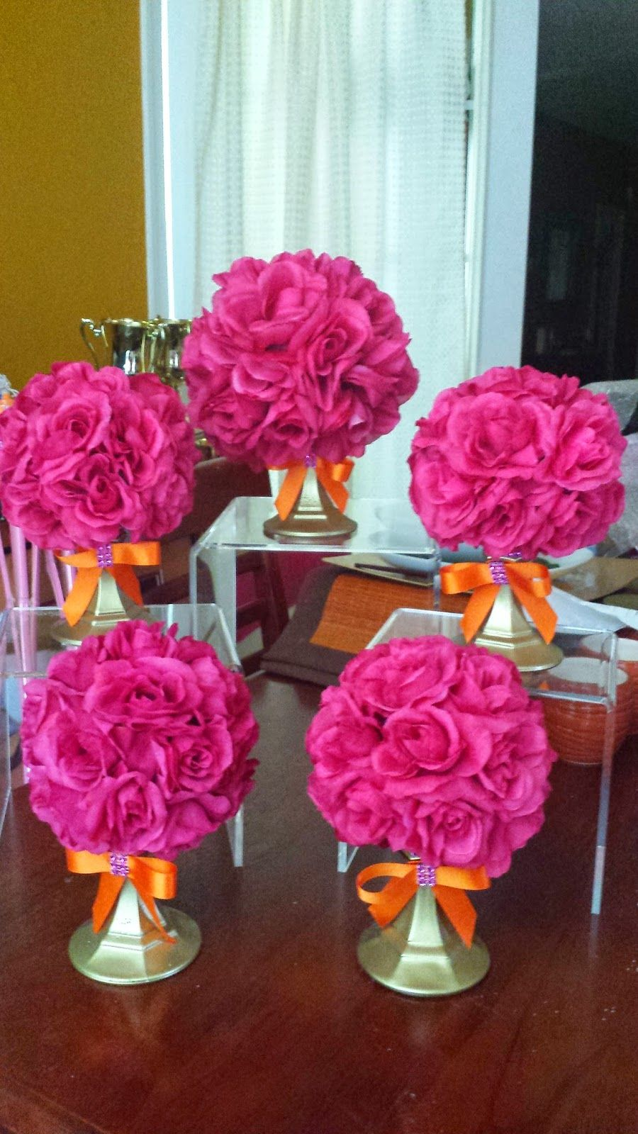 Felicia's Event Design and Planning Orange and Pink Rose