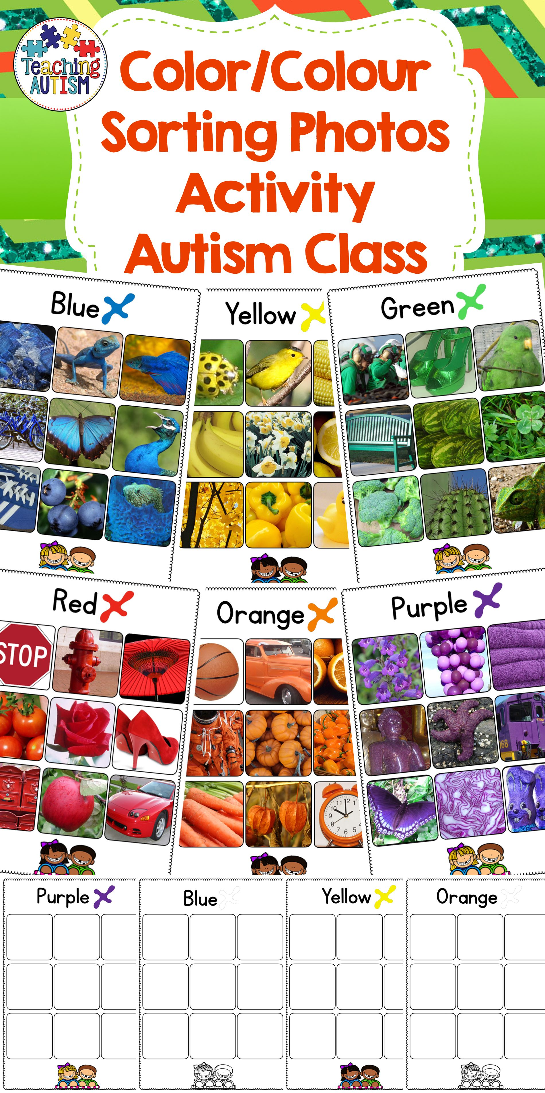 Autism Resources Color Sorting Colour Sorting
