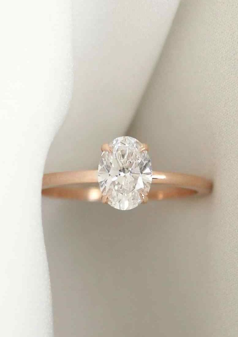c4d4ac2e433c6b Simple and minimalist Oval diamond cut diamond engagement ring tear drop  engagement, oval cut engagement