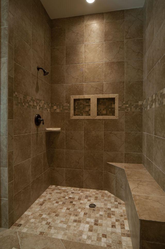 Inlaw Quarters Shower Flush floor and bench for handicap Custom