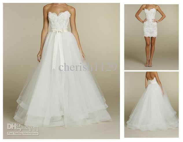 Detachable Wedding Skirt On Pinterest