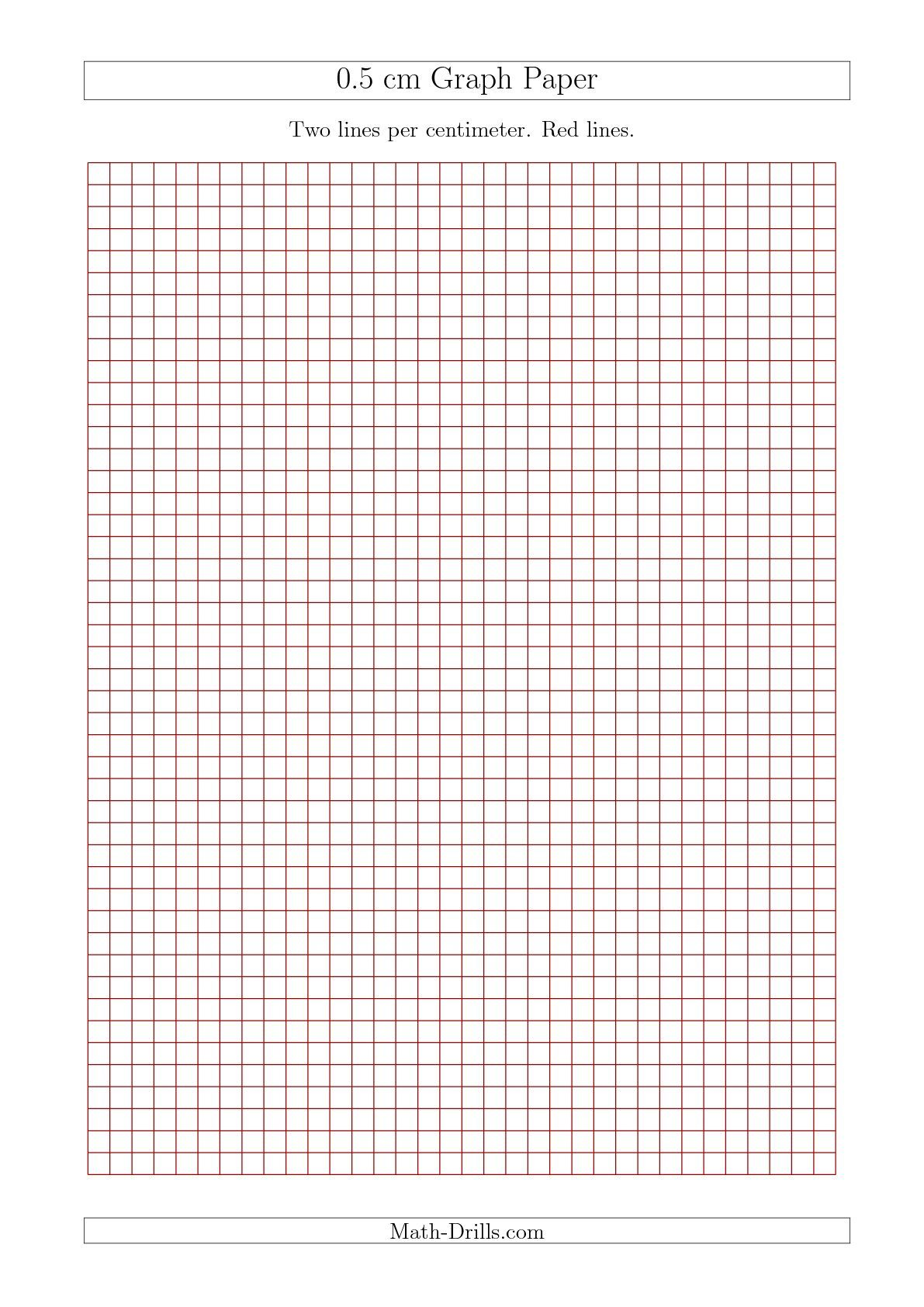 New 09 17 0 5 Cm Graph Paper With Red Lines A4 Size Math Worksheet Freemath