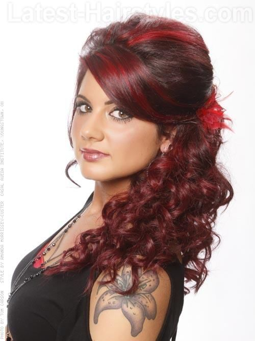 Black curly hair red highlights the best curly hair 2017 the 25 best highlights curly hair ideas on pmusecretfo Choice Image