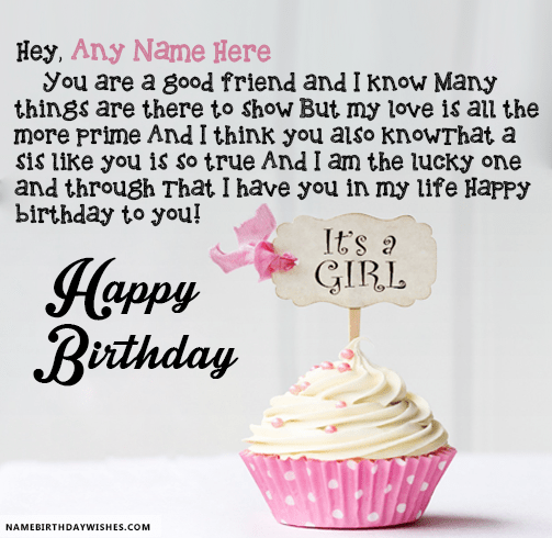 Good Friend Sister Birthday Wishes With Name HBD Wishes