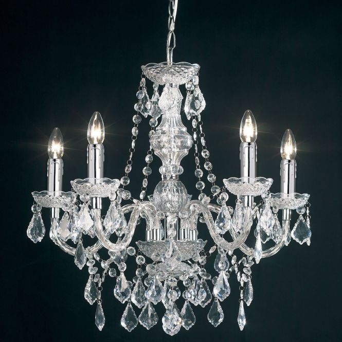 Clear Acrylic Chandelier Ceiling Light With 5 Arms Haysom Interiors