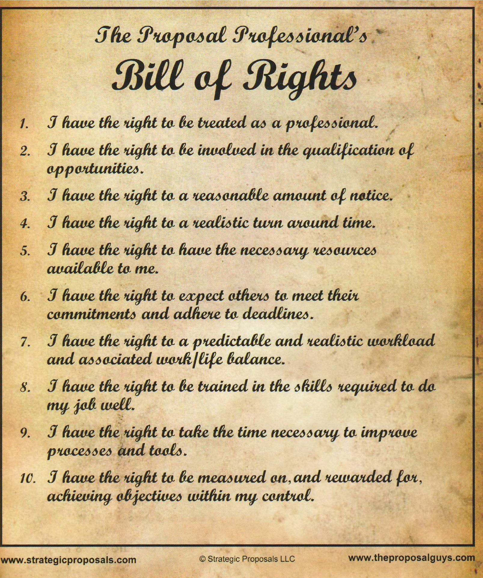 The Bill Of Rights Is A Collective Name For The First Ten