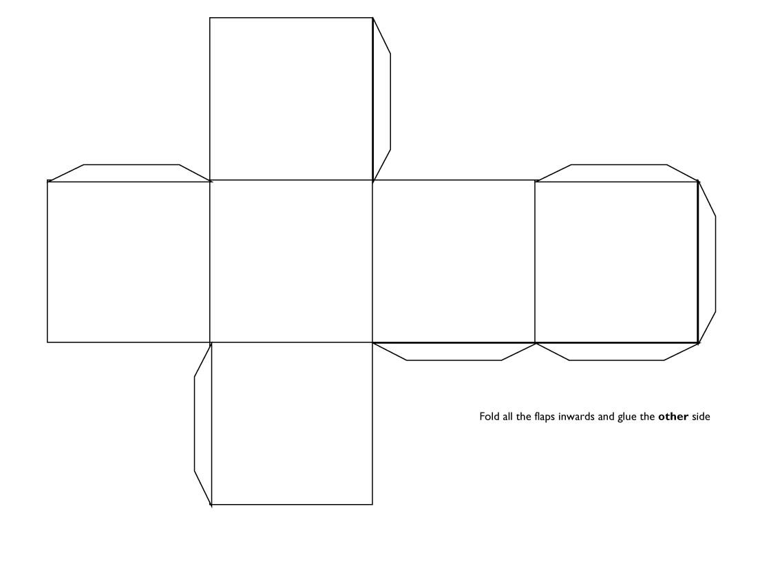 3d Cube Template