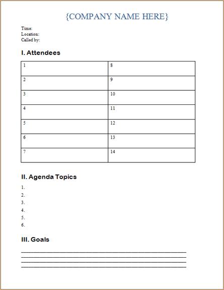 Team Agenda Template. Fundraising Letter 10 Free Word Pdf