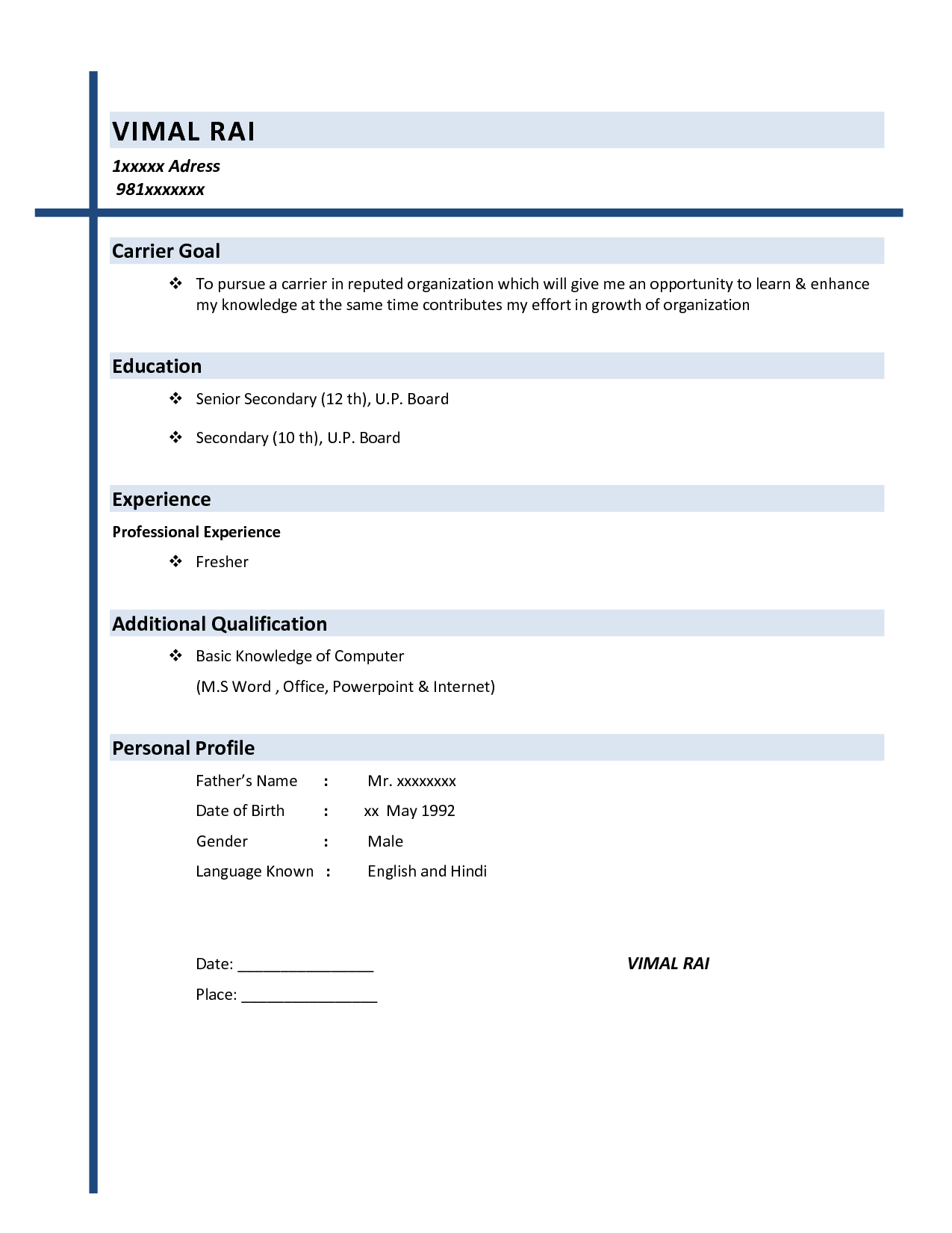quick free resume builder template