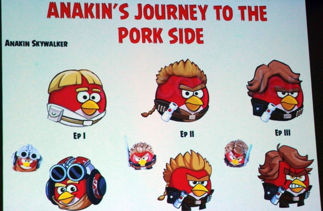 anakin s journey to the pork side angry birds pinterest