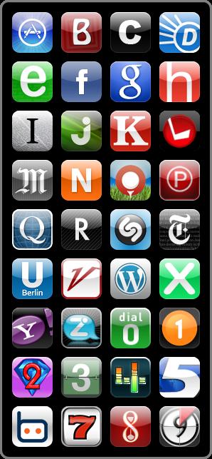 iPhone App Icons Alphabet Andréas Saudemont geeky on