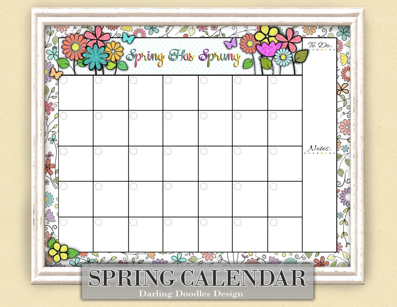 Seasonal Monthly Calendars