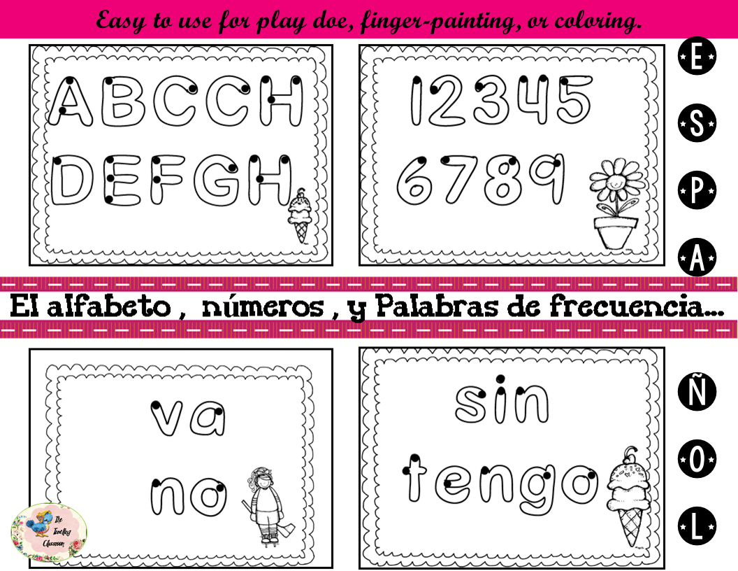 Freebie Spanish Fine Motor Worksheets For Activity Centers Amp More Spanish