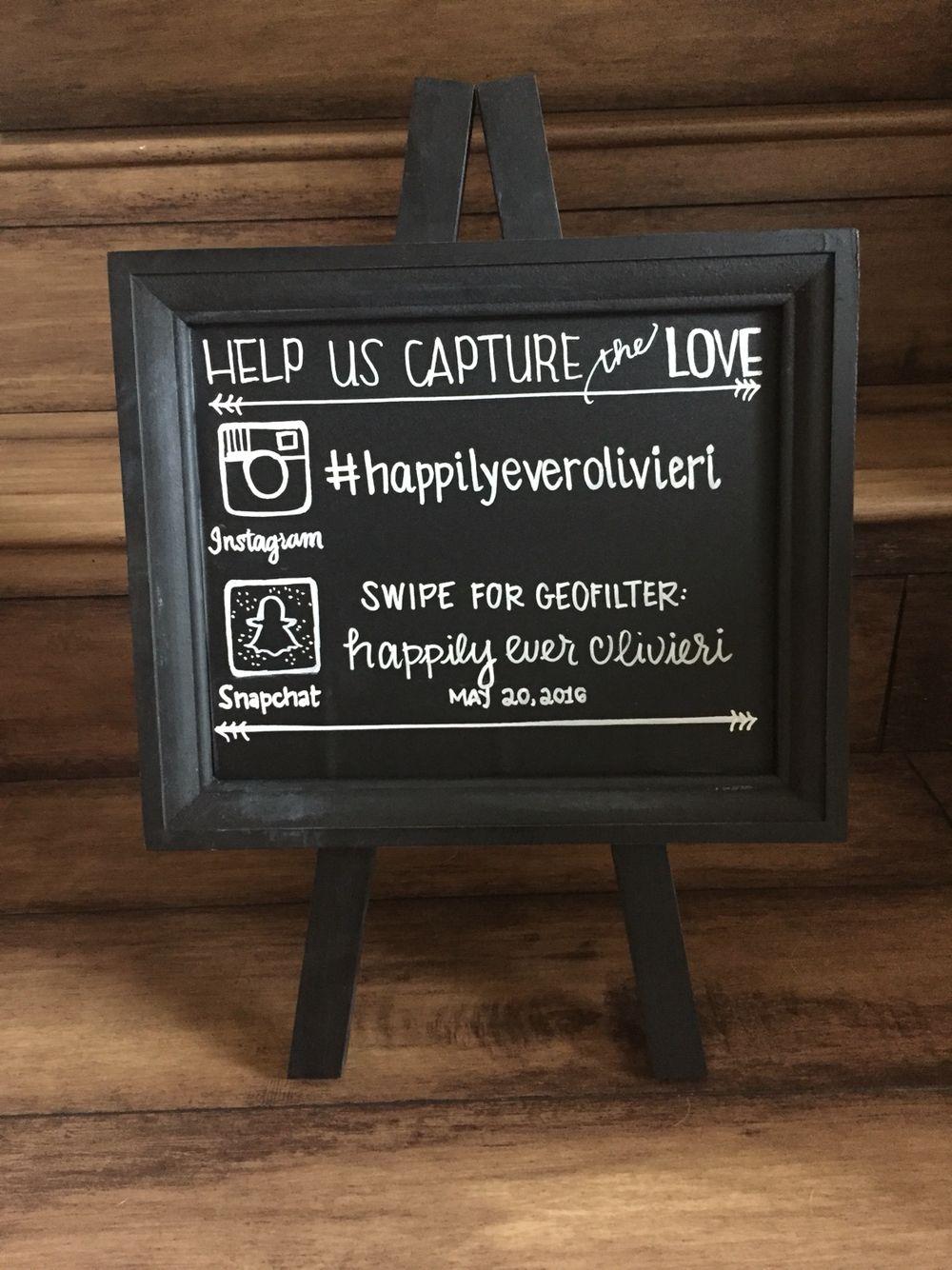 Wedding Snapchat Filter Sign Using Social Media at your